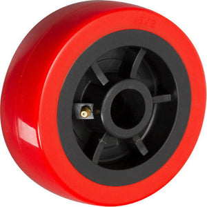"4"" x 2"" Polyurethane on Plastic Wheel with Bearing - 1 EA"