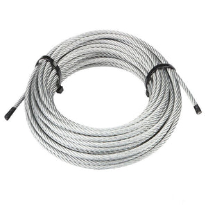"7 x 19 Galvanized Aircraft Cable Wire Rope 3/16"" - 100 ft"