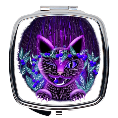 Purple Cat Compact Mirrors - LDS