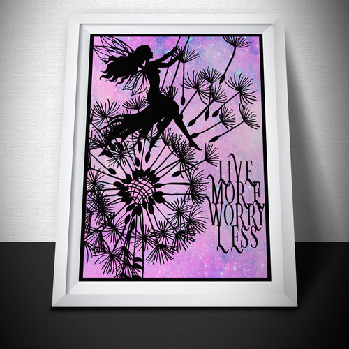 Live More Worry Less Art Print - LDS