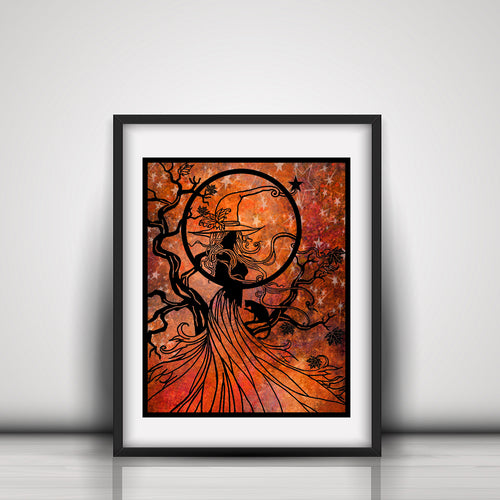 Autumn Witch Art Print - LDS