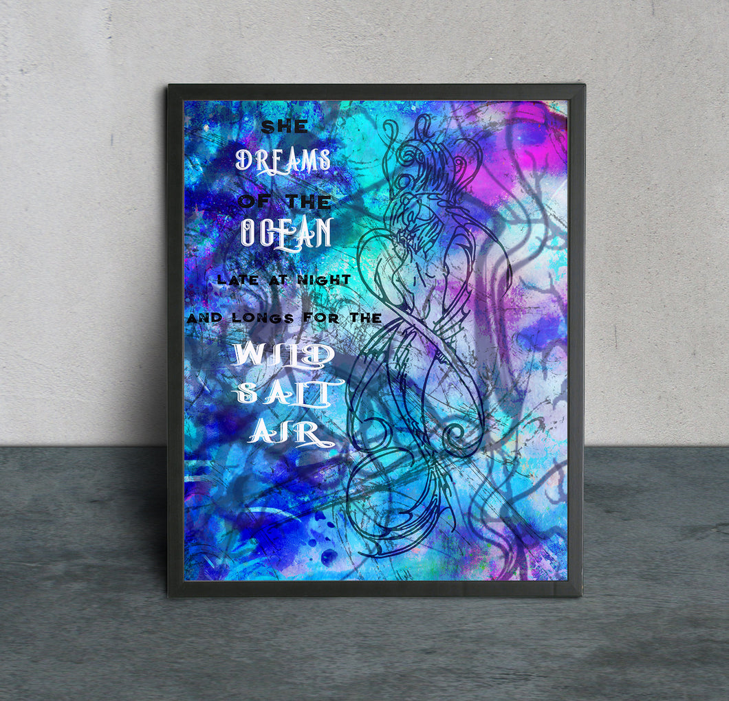 Mermaid Quote Art Print - LDS