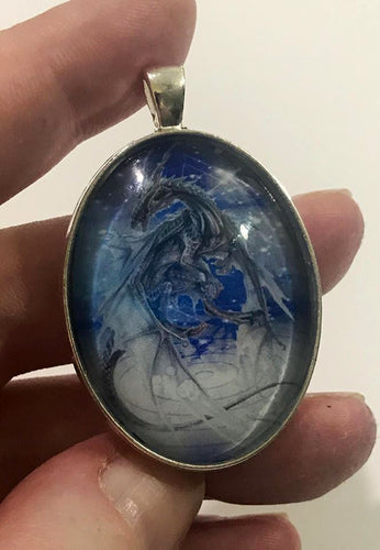 Blue Dragon Pendant - LDS