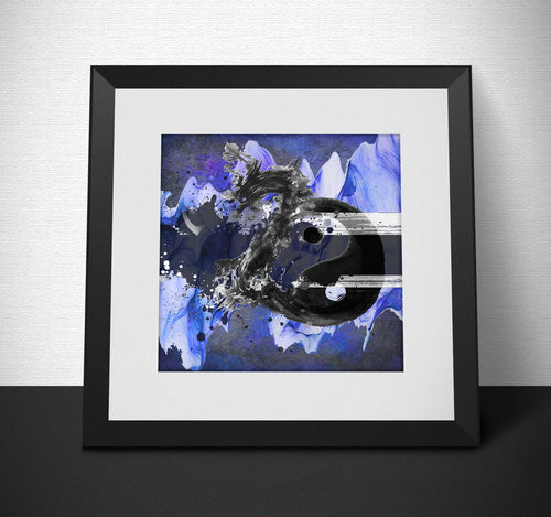 Yin Yang Dragon Art Print - LDS