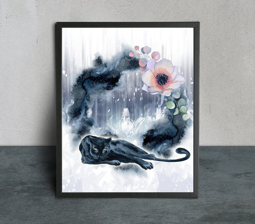 Panther Moon Art Print - LDS