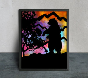 Colorful Bear Art Print - LDS
