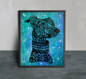 Greyhound Papercut Art - LDS