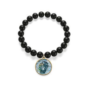 Lion Head Matte Onyx Bracelet - LDS