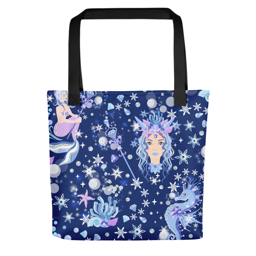 Ice Queen Mermaid All Over Tote Bag - LDS