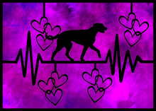 Irish Wolfhound Sticker - Purple - LDS