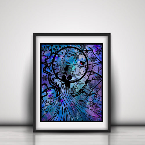 Winter Witch Art Print - LDS