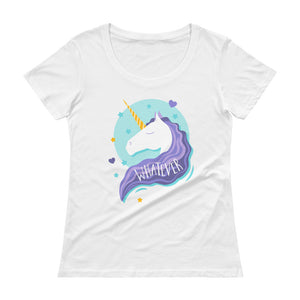 Funny Unicorn Ladies T-Shirt - LDS