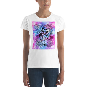 Quote women's short sleeve t-shirt - Design by Lago Dos Sonhos - LDS