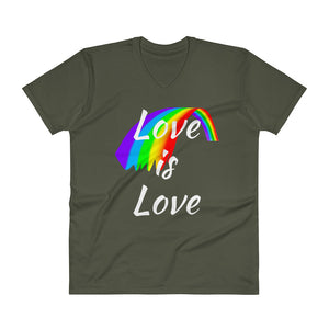 Love is Love V-neck T-shirt - LDS