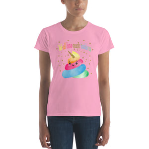 Unicorn Poop Women's short sleeve t-shirt - LDS