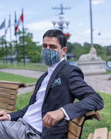 Stay Healthy Mask and Pocket Square