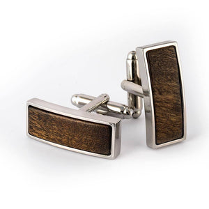 Brown Wooden Cufflinks - Cochic® Simple