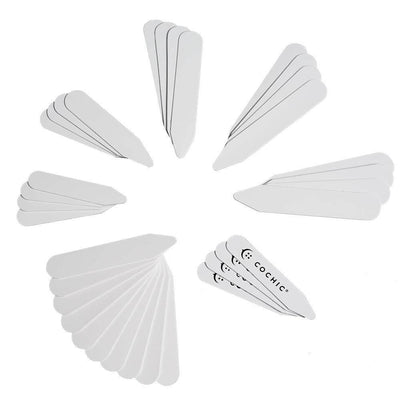 34 White Collar Stays - Cochic® - 7 Sizes Simple