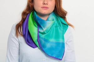 blue-multicolor-silk-scarf-cocktail-chic