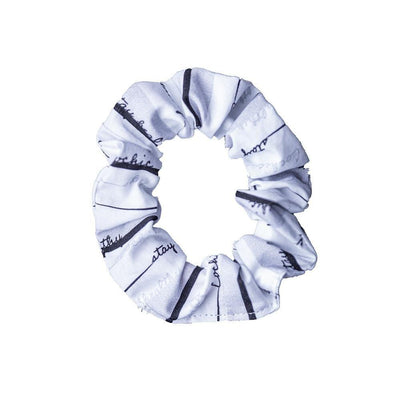 Antibacterial Cotton Hair Tie - White - Cochic
