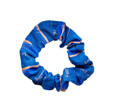 Antibacterial Cotton Hair Tie - Blue/Orange - Cochic