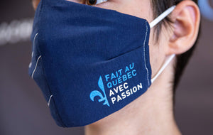 Reusable Face Mask Blue Made In Quebec