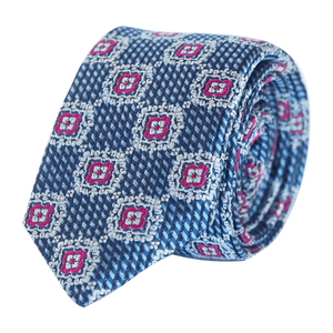 COCHIC® – FANCY TIE BLUE AND MAGENTA - SLIM - Cochic - Free shipping