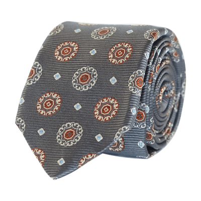 brown-silk-tie-fancy-handmade-italy