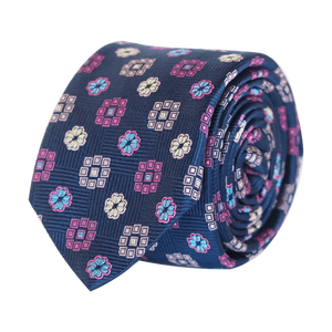 COCHIC® – FANCY TIE BLUE AND PINK - SLIM - Cochic - Free shipping