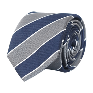 COCHIC® – BACHELOR TIE BLUE AND GREY - SLIM - Cochic - Free shipping