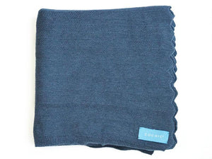 EDIMBURGO COTTON SCARF - ARTIC BLUE - Cochic - Free shipping