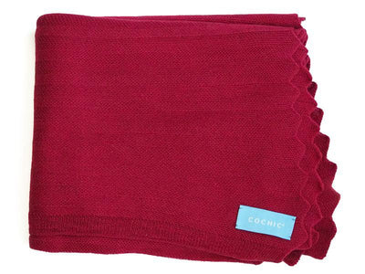 EDIMBURGO COTTON SCARF - BORDEAUX - Cochic