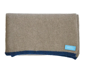 SAO PAULO RIBBED SCARF - WOOL AND CASHEMERE - BEIGE