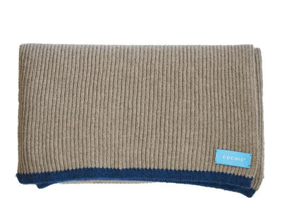 SAO PAULO RIBBED SCARF - WOOL AND CASHEMERE - BEIGE - Cochic