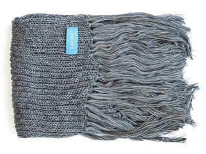MOSCOW FRINGED WOOL SCARF - GRAY - Cochic - Free shipping