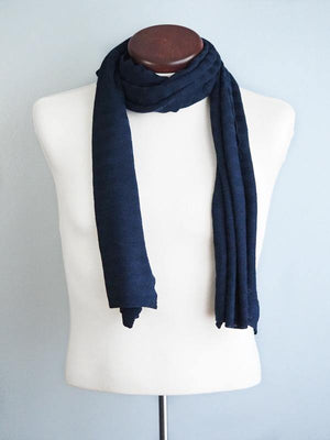 EDIMBURGO COTTON SCARF - NAVY - Cochic - Free shipping