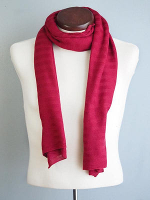EDIMBURGO COTTON SCARF - BORDEAUX