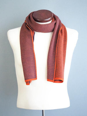 orange-wool-scarf-herringbone