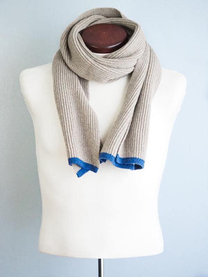 SAO PAULO RIBBED SCARF - WOOL AND CASHEMERE - BEIGE - Cochic - Free shipping