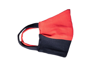 Antibacterial Mask Solid Black/Red Junior Size - Cochic