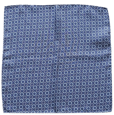 BLUE RINGS POCKET SQUARE - Cochic