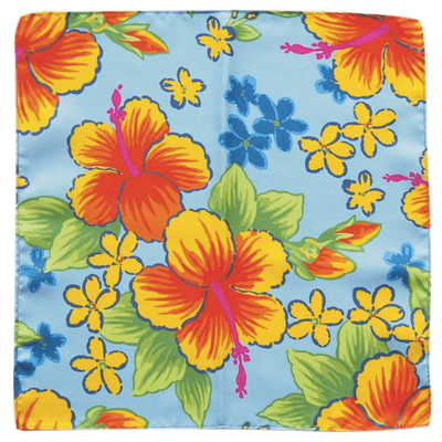 HIBISCUS POCKET SQUARE - Cochic