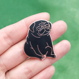 Relaxation Pug Hard Enamel Pin