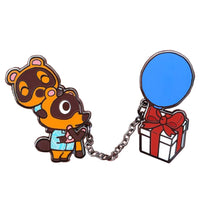 Animal Crossing Timmy & Tommy with Balloon Present Chained Pins