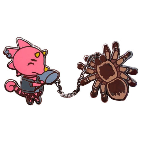 Animal Crossing Flick with Tarantula Chained Pins