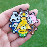 Animal Crossing Spinning Enamel Pin Set