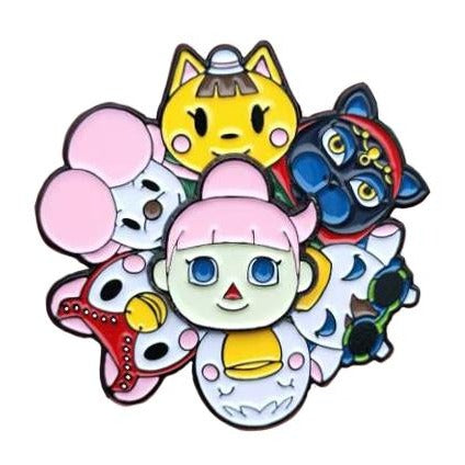 Animal Crossing Spinning Pin Girls Edition