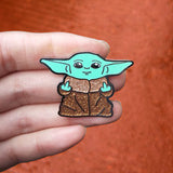 Bad Baby Yoda Hard Enamel Pin