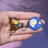 Animal Crossing Blathers with Fossil Chained Pins