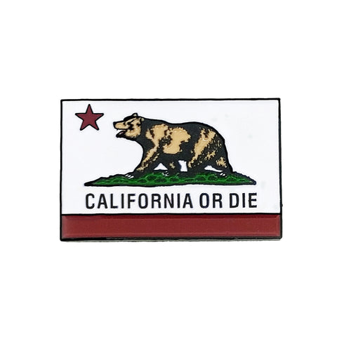 California Or Die Enamel Pin